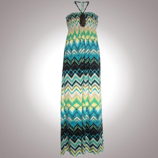 EDEL Strandkleid Sommer Maxikleid MAXI KLEID DRESS Jersey LANGGRÖßE Gr.XS