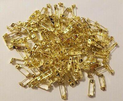 100 Stück Hell Gold 20mm 1.9cm Verschluss Haken BAR Nadeln Craft Schmuck Brosche | eBay