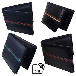 Para-hombres-Cuero-Billetera-By-London-Cuero-Moneda-Seccion-protegido-RFID