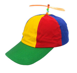 d2c998200a0 Image is loading Adult-Propeller-Beanie-Hat-Clown-Costume-Spinner-Copter-