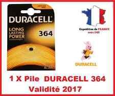1 X Pile  DURACELL 364/SR60/AG1 - Pour Montre / Oxyde d'argent 1,55V DLC 2017