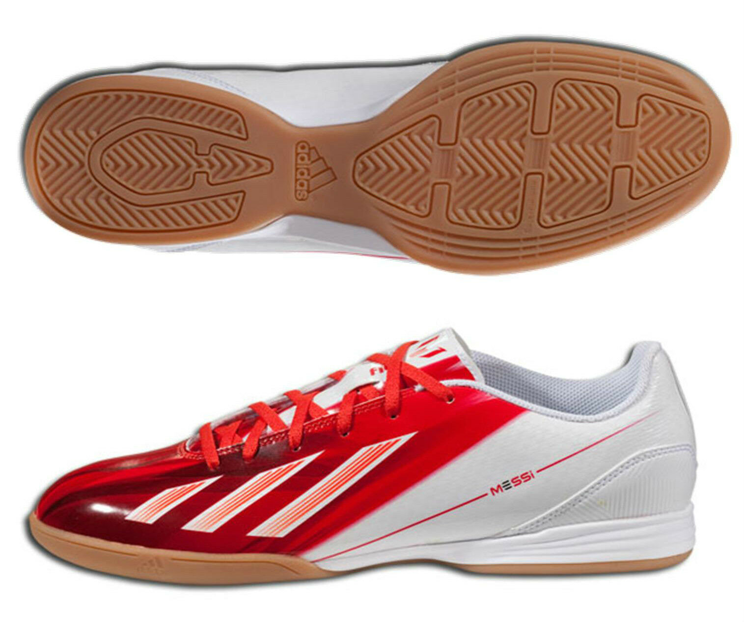 ADIDAS MESSI 1 F10 IN INDOOR SOCCER SHOES FUTSAL White Red.