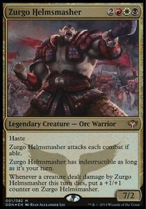 Altered Zurgo Helmsmasher Full art