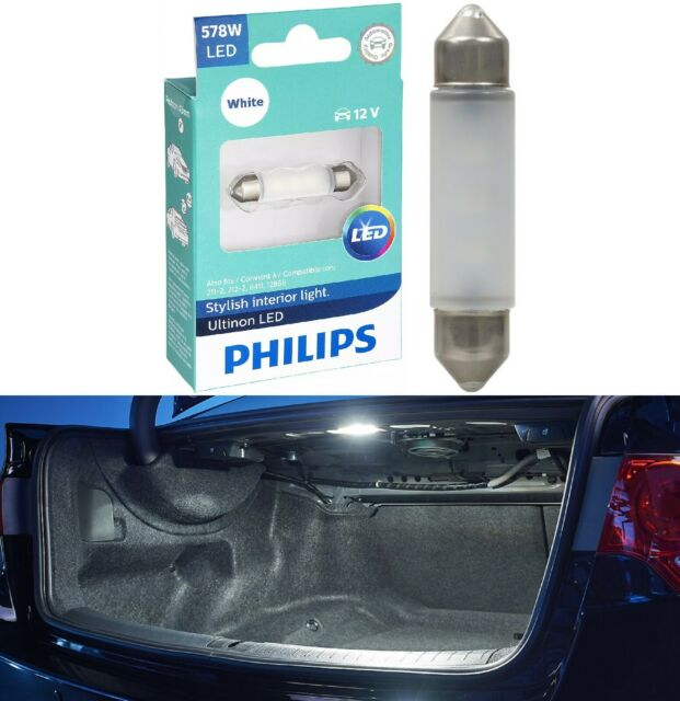 Philips Ultinon LED Light 578 White 6000K One Bulb Trunk Cargo Replacement Lamp