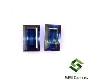 0-67-Cts-Certified-Natural-Blue-Sapphire-Baguette-Cut-Pair-4-50x3-mm-Gemstones