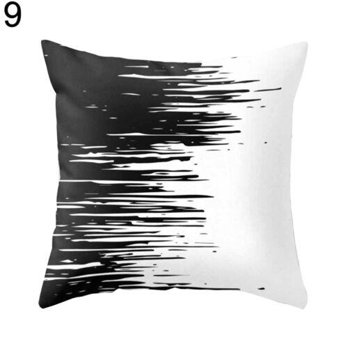 Modern Black and White Geometric Print Cushion Cover Sofa Decor Pillow Case Fash