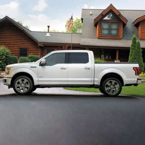 CHROME BODY SIDE Moldings TRIM Mouldings For FORD F-250 SUPER CREW CAB 2017-2019