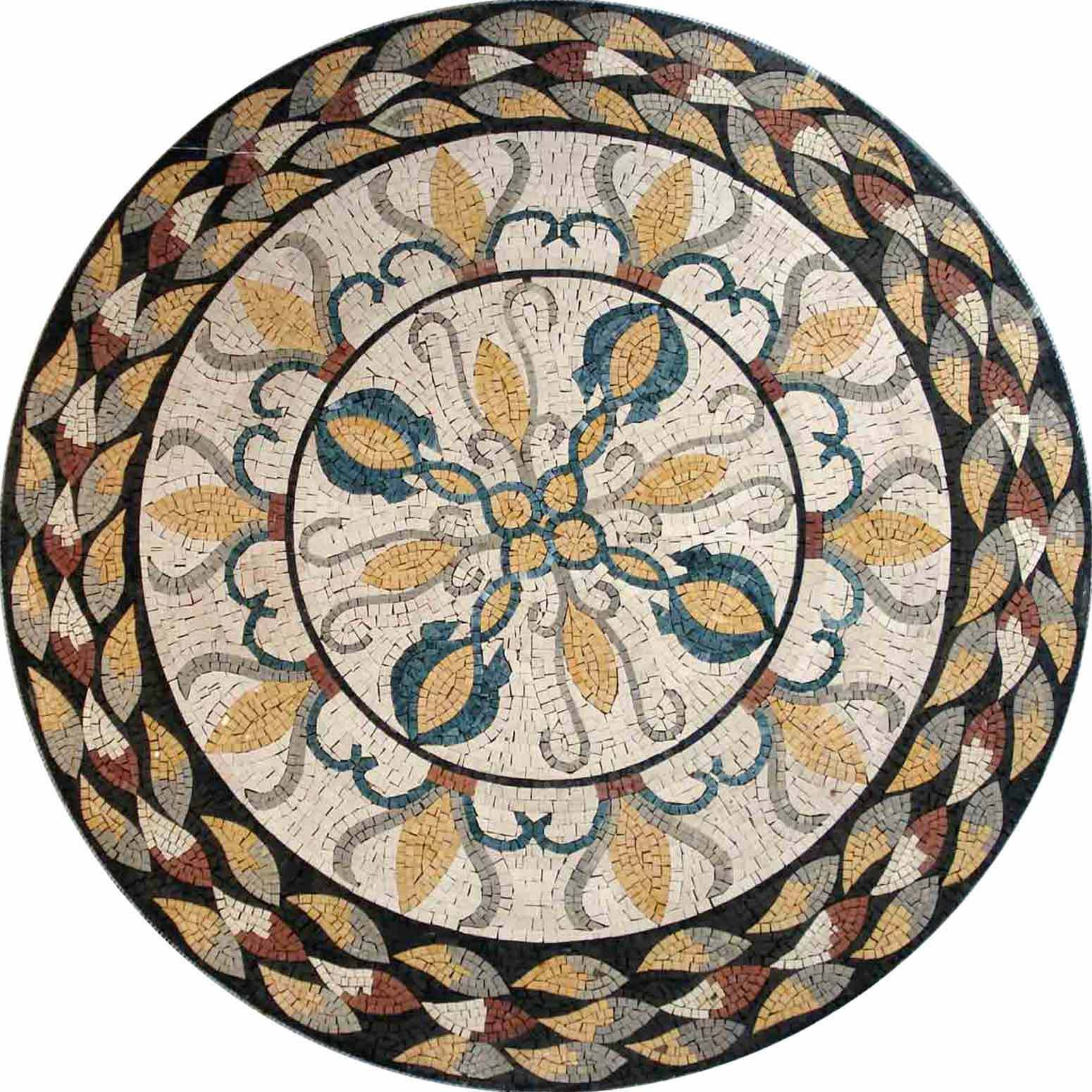 36  Handmade Decorative Medallion wall floor Marble Mosaic Art Stone Tile Decor.