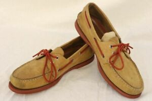 Mens-Size-10-5M-SPERRY-TOP-SIDER-Tan-Casual-Leather-Loafer-Boat-Shoes-0271592