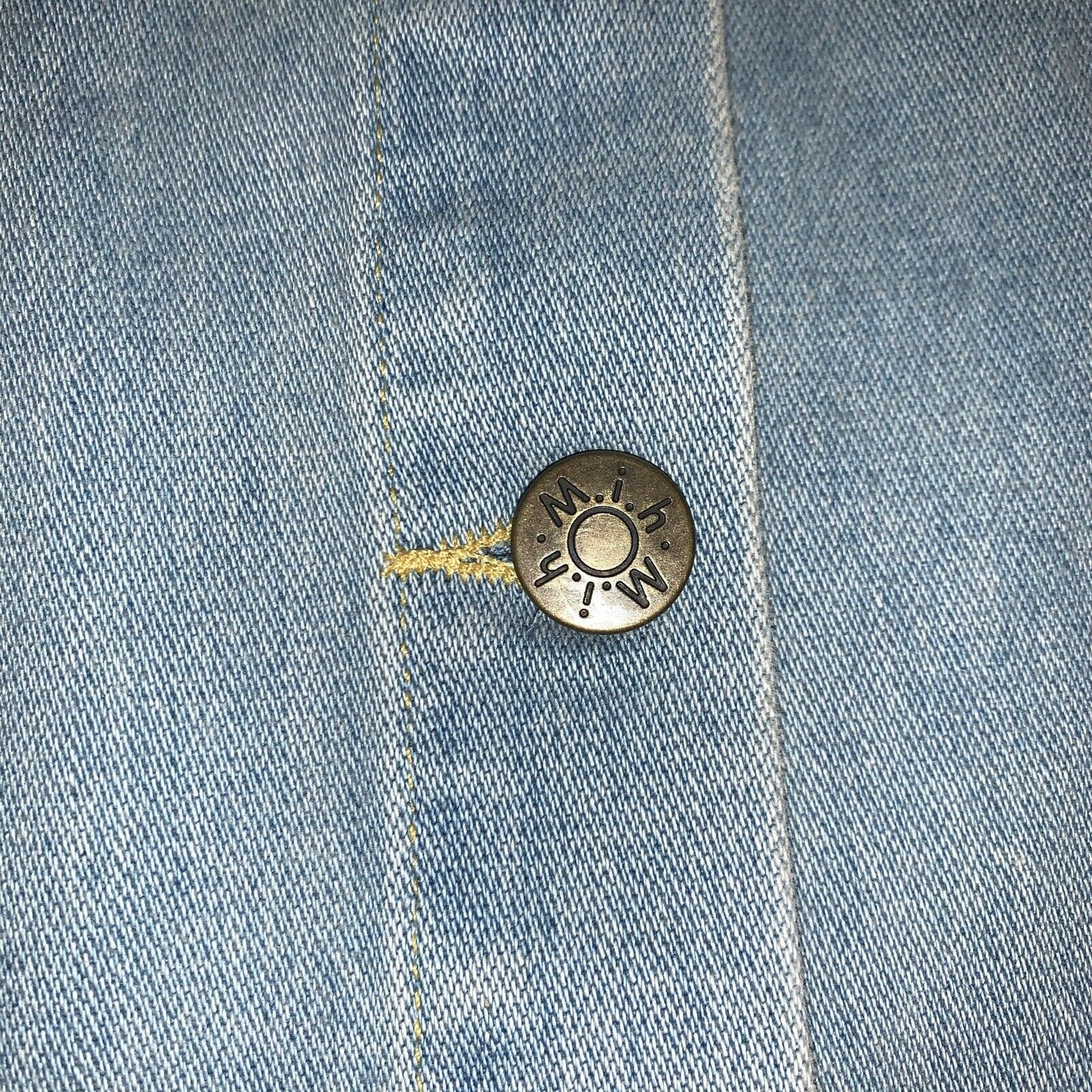 Anthropologie Skirt M.i.H Jeans Button Front A Li… - image 2