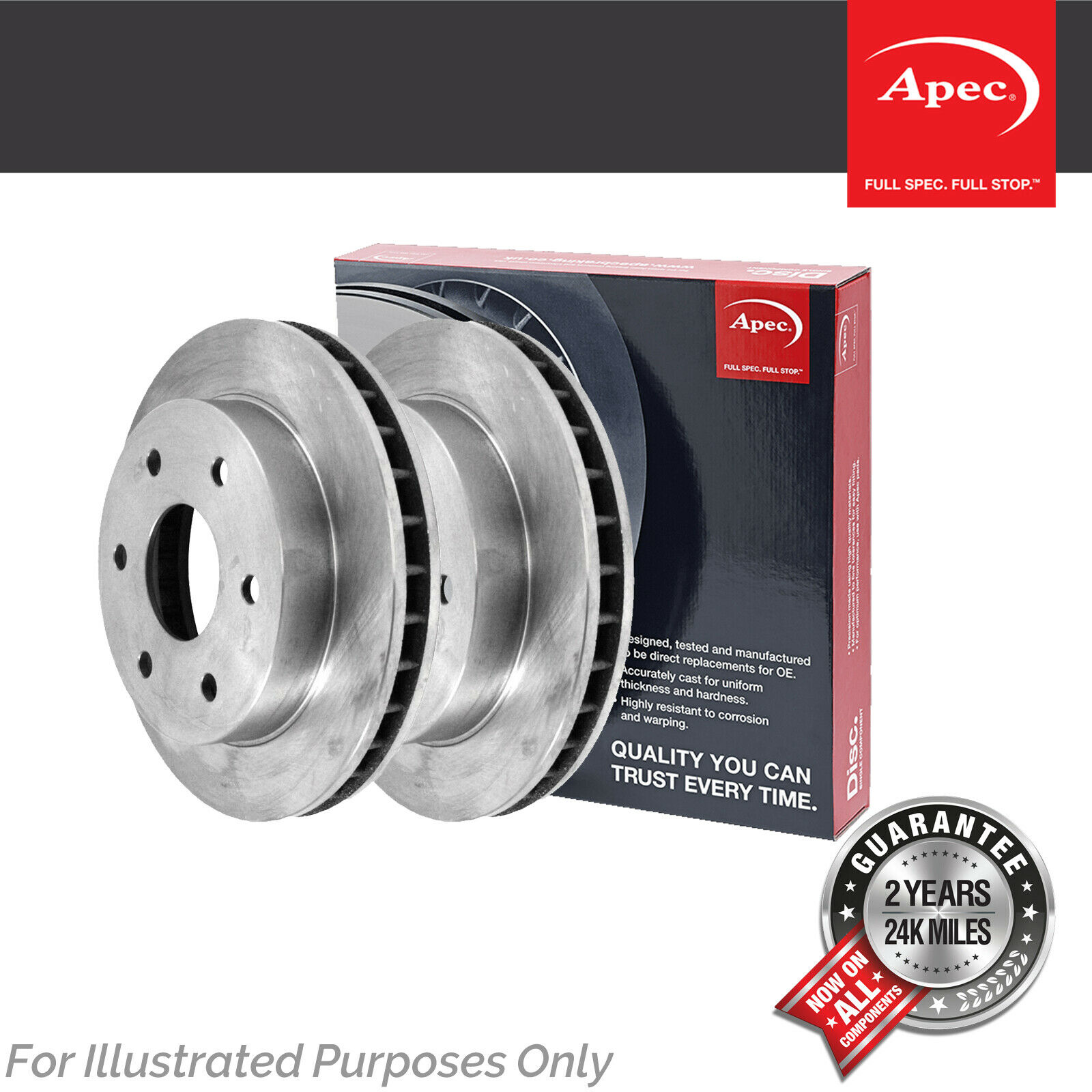 DSK3137 Genuine OE Quality Apec Front Vented Brake Discs