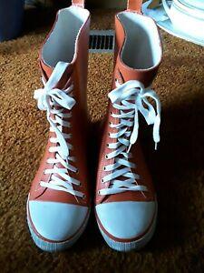 RUE 21 Orange Rubber Rain Boots W