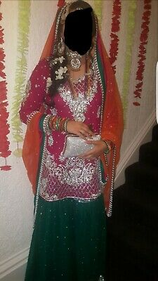 d9addb2e5f Details about Pakistani / Indian Ready Made wedding party wear Gharara  Mehndi / bridal Dress