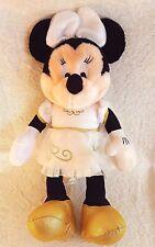 "❤️️ Disney Wedding Minnie Mouse Plush White Gold Gown Shoes Stuffed 14"" ❤️️"