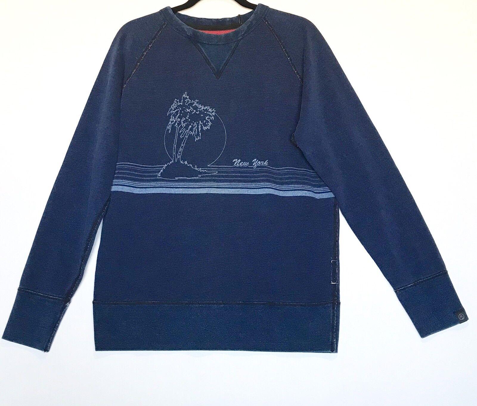 Rag & bone Vacation Indigo Sweatshirt Cotton Sz S Retails 295 Price 92 NWT
