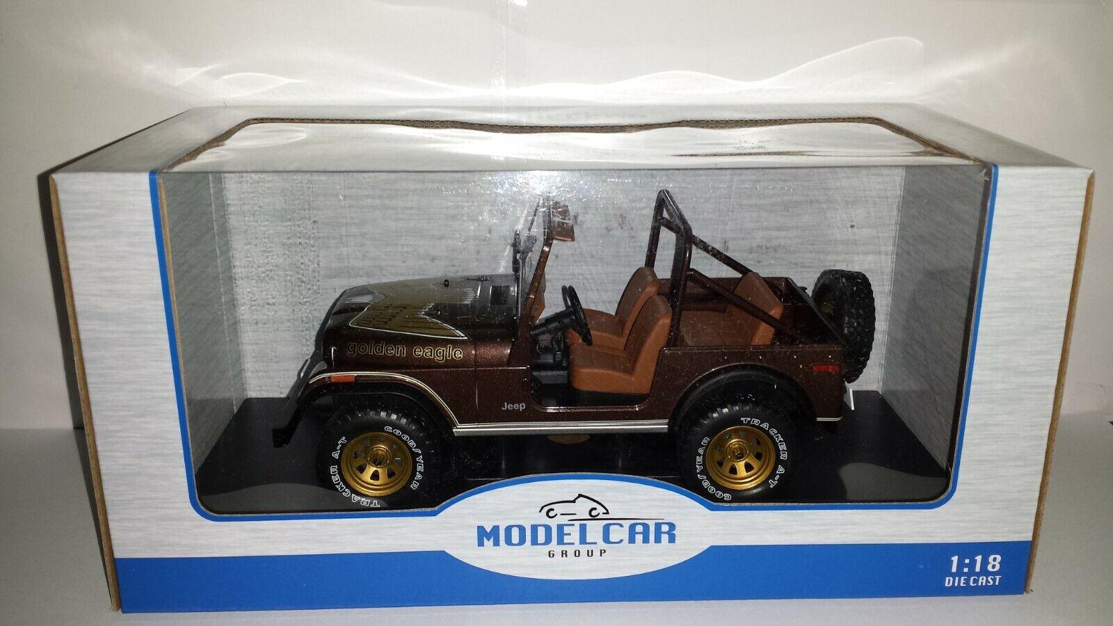 Model Car Group 1 18 Jeep CJ-7 Golden Eagle 1976 nieuw in verpakking