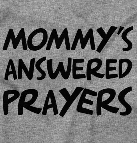 Mommys Answered Prayers Funny Adorable Religious Lord Gift Baby Gerber Onesie