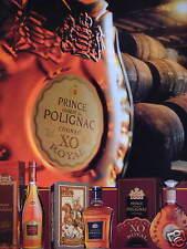 PUBLICITÉ 1996 PRINCE HUBERT DE POLIGNAC COGNAC XO ROYAL - ADVERTISING