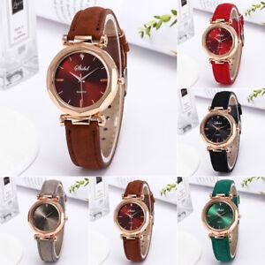 Fashion-Women-039-s-Watches-Stainless-Steel-Leather-Quartz-Analog-Wrist-Watch