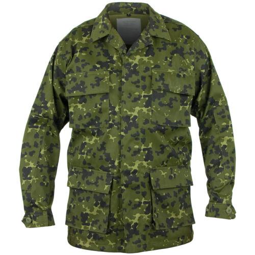 Mil-Tec Tactical Combat Mens Bdu Shirt Danish Military Uniform Jacket M84 Camo