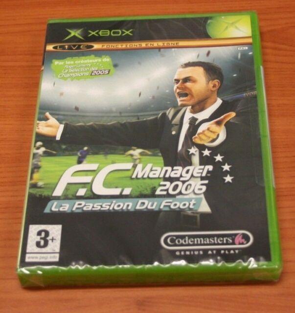 JEU XBOX   FC Manager 2006 La Passion Du Foot    neuf