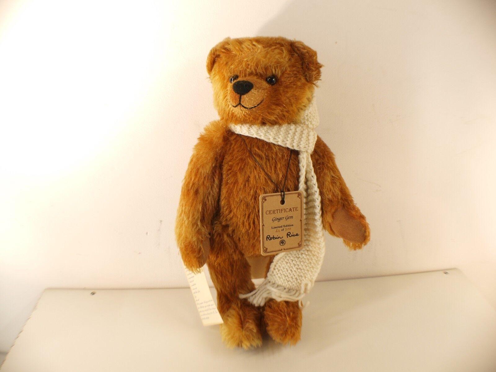 Robin Rive Teddy Bear Bear Bear   Ginger Gem   Limited Edition 46of500 36 cm New 9af9e7