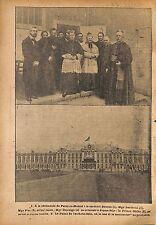 Cérémonie Paray-le-Monial Cardinal Bourne & Berthoia WWI 1917 ILLUSTRATION