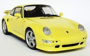 UT-Models-1-18-Scale-27836-Porsche-911-993-Turbo-S-Yellow-Diecast-Model-Car