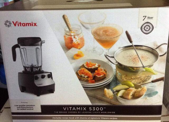 Vitamix 5300 Series 64 oz Container Blender.Black .Fits Under Cabinet Model.New