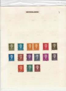 netherlands stamps page ref 17032