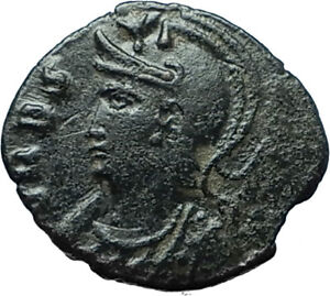 ANONYMOUS-Genuine-337AD-Authentic-Ancient-Roman-Coin-VRBS-ROMA-amp-SOLDIERS-i66175