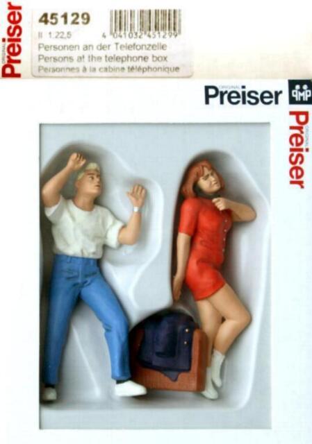 """Preiser 45129 G - zwei Jugendliche """" An der Telefonzelle """" NEU & OvP"""
