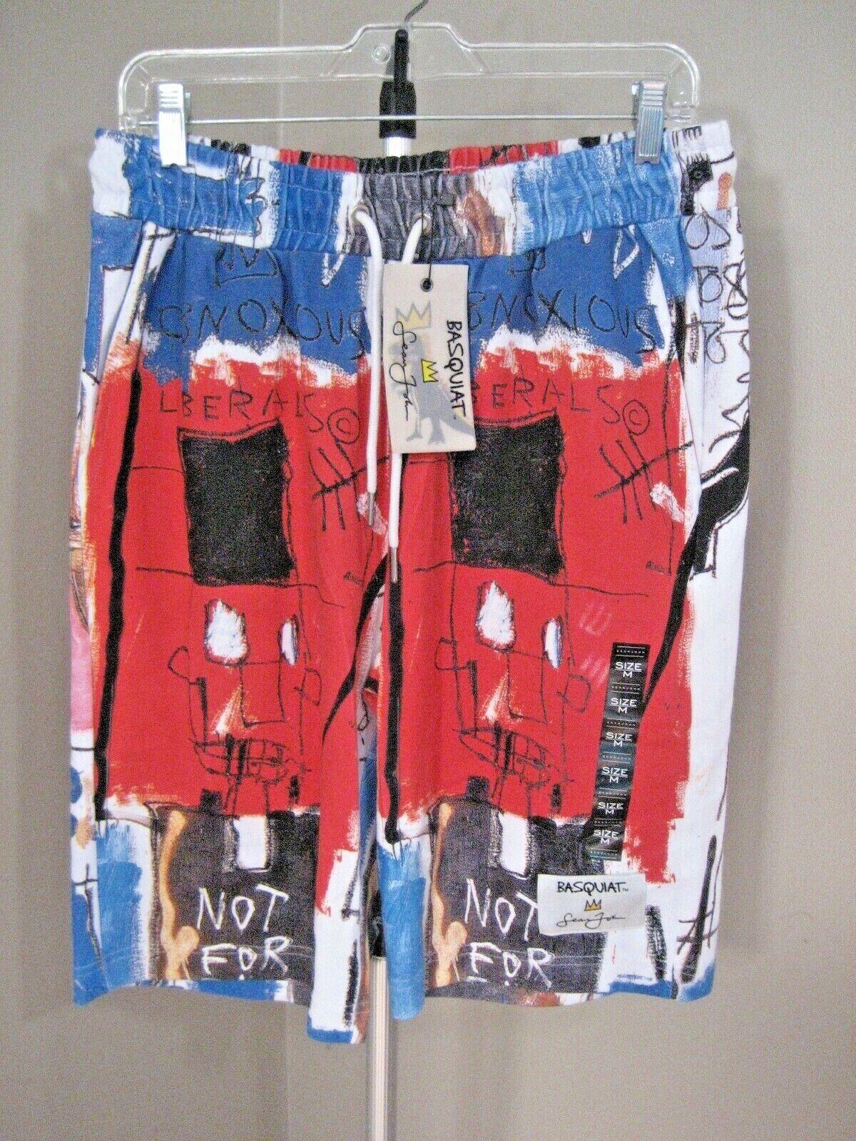 ! nuevo con etiquetas! Sean John Basquait multicolor elástico en la cintura insoportable liberal Pantalones Cortos Talle M
