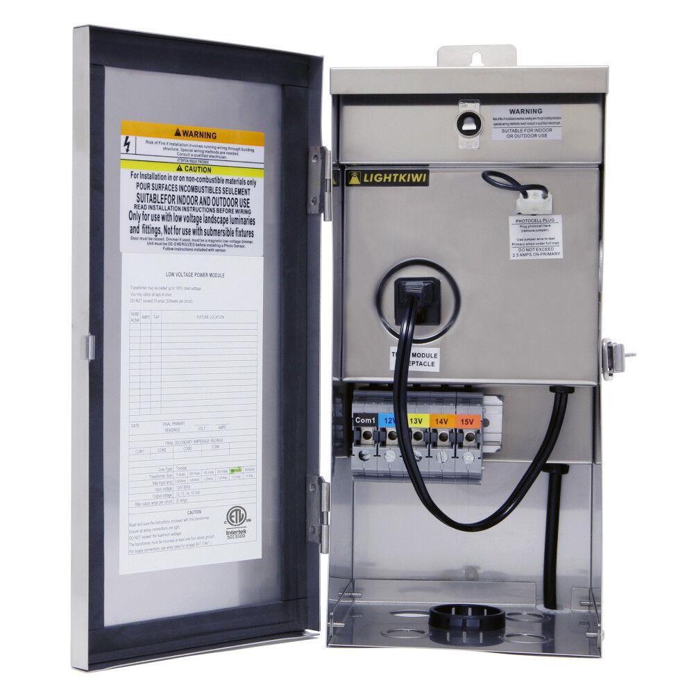 Lightkiwi W7153 45 Watt Power Supply for Modular LED Under Cabinet Lighting White
