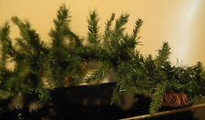 8' Long Stiff Wire Christmas Green Pine Garland Greenery Holiday Decoration