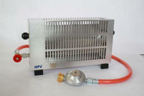 HPV Campingheizung Zündsicherung 50 mbar regelbar Zeltheizung Gasheizung 1,7 kw