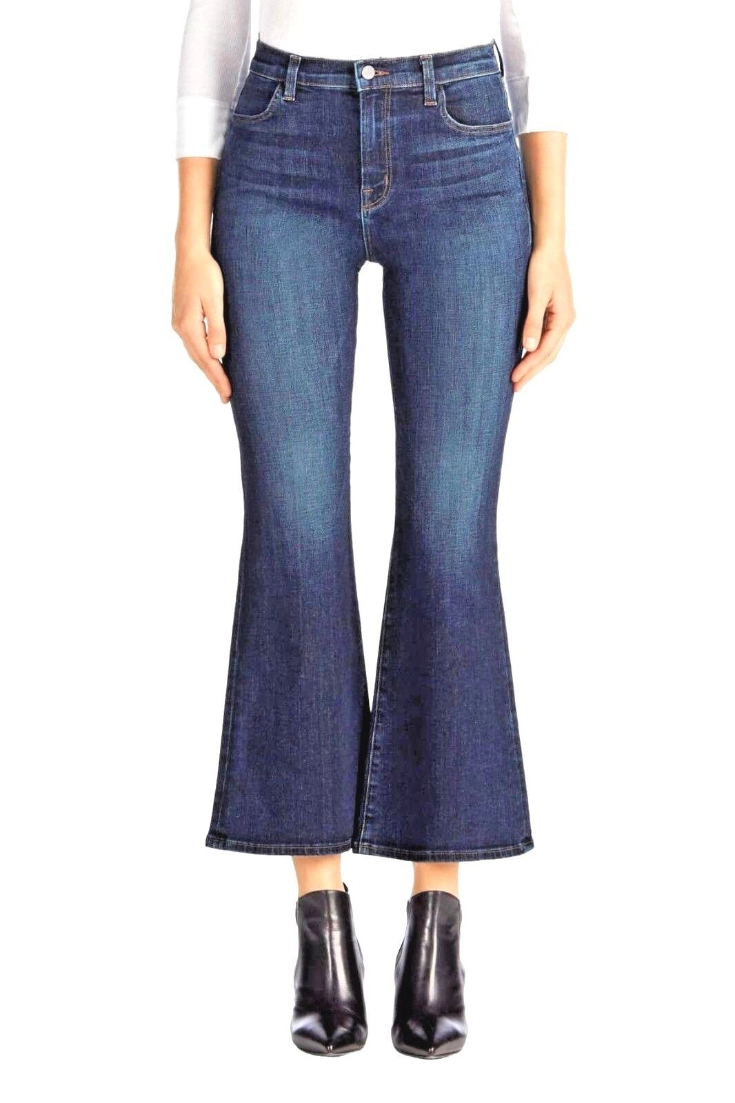 J BRAND CAROLINA WOMEN'S HIGH RISE ANKLE FLARE JEANS IN MISMERIC WASH 24 NEW