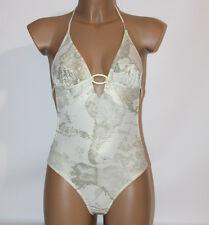 Prima Classe Costume intero bianco grigio oro bikini Alviero Martini S M L