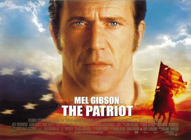 "Movie Silk Fabric Poster 12/""x17/""  20/""x28/"" Mel Gibson THE PATRIOT 2000"