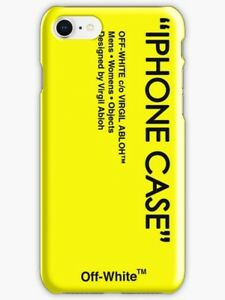 quality design 7bb94 3ec63 Details about Off White Yellow Skin iPhone X 5 SE 6 7 8 S Plus Off White  Phone Case