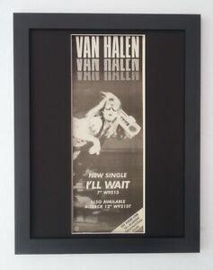 VAN HALEN*I'll Wait*1984*RARE*ORIGINAL*POSTER*AD*QUALITY ...