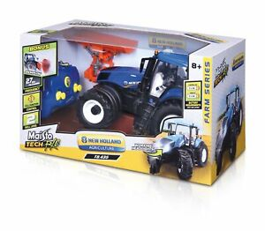 Maisto-Tech-Farm-Tractor-New-Holland-T8-320-42cm-mit-Schneeschieber