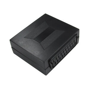 21-Pin-conector-SCART-Acoplador-Cable-Lead-Carpintero-Adaptador-Enchufe-Hembra-a-Hembra