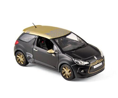 Norev 1 43 155288 Citroën DS3 Racing 2013 - black Mate & gold NEW