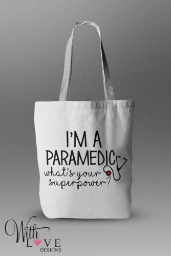 I/'M A PARAMEDIC NURSE DOCTOR TOTE SHOPPER SHOPPING BAG PERSONALISED GIFT