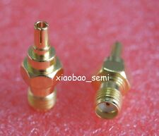 1X Adapter CRC9 male plug to SMA female jack RF connector straight gold plating