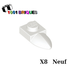 Modified 1 x 1 with Tooth Horizontal White Lego 49668 x8 Plate