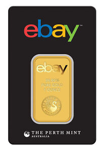 ebay & Perth Mint - 1oz Gold Bar .9999 Fine Gold in Assay Card