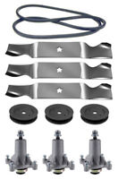 Husqvarna Yth2454 54 Mower Deck Parts Rebuild Kit Spindles Blades Free Shipping