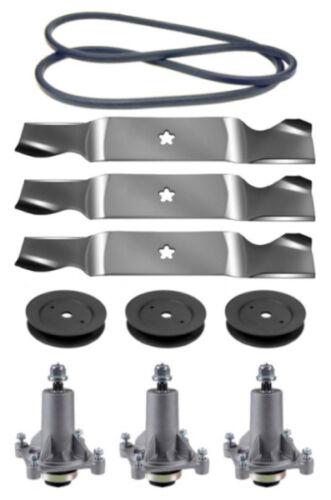 "Husqvarna YTH2454 54/"" Mower Deck Parts Rebuild Kit Spindles Blades FREE Shipping"